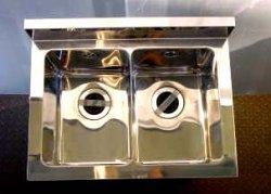 画像2: 2槽シンク(業務用2槽流し台)