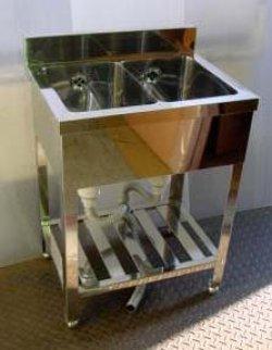画像4: 2槽シンク(業務用2槽流し台)