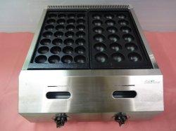 画像2: バック排気型 たこ焼器 鉄鍋2連
