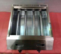 画像5: バック排気型 たこ焼器 鉄鍋2連