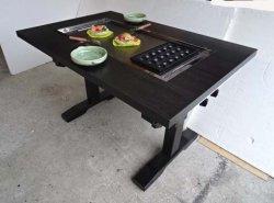 画像2: たこ焼+鉄板焼(お好み焼)兼用テーブル 4人用 ガス用