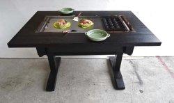 画像3: たこ焼+鉄板焼(お好み焼)兼用テーブル 4人用 ガス用