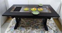画像3: たこ焼+鉄板焼(お好み焼)兼用テーブル 6人用 ガス用