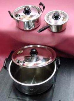 画像1: 実用鍋・両手36cm(15,5リットル)ステン電磁対応