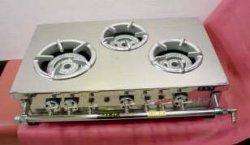 画像1: 業務用3口卓上用ハイカロリー ガステーブル