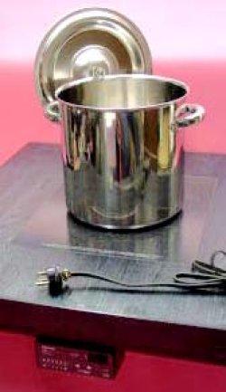 画像1: 電磁寸胴鍋 30cm(20リットル) モリブデンジII