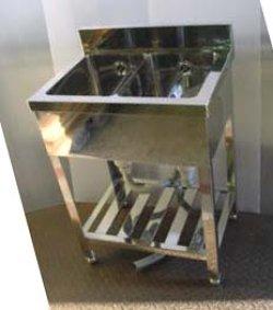 画像3: 2槽シンク(業務用2槽流し台)