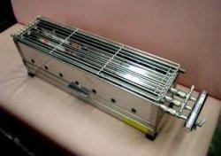 画像1: ガス式 串焼き器 大=600型(3列バーナー)