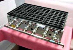 画像2: たこ焼器 鉄大32穴x3連