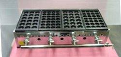 画像2: たこ焼き器 縁高・鉄28穴or大玉18穴x4連