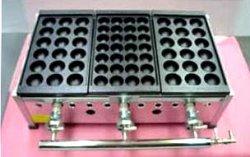 画像1: たこ焼器 縁高・鉄28穴or大18穴x3連