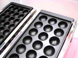 画像3: たこ焼器 縁高・鉄28穴or大18穴x1連