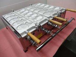 画像5: たい焼機 5匹x2連 白