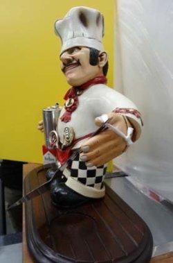 画像3: シェフ人形(卓上)