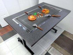 画像4: 鉄板焼きテーブル 2本足長 キャスター付き