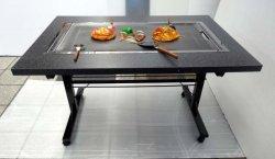 画像2: 鉄板焼きテーブル 2本足長 キャスター付き