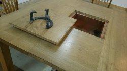 画像3: 囲炉裏テーブル(炭焼いろりテーブル)