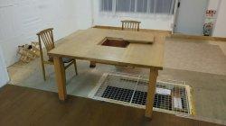 画像1: 囲炉裏テーブル(炭焼いろりテーブル)