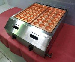 画像1: バック排気型 たこ焼器 銅鍋2連