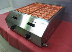 画像4: バック排気型 たこ焼器 銅鍋2連