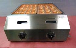 画像3: バック排気型 たこ焼器 銅鍋2連