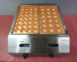 画像2: バック排気型 たこ焼器 銅鍋2連
