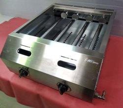 画像4: バック排気型 たこ焼器 鉄鍋2連 都市ガス