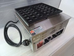 画像3: 業務用 電気式 たこ焼器 鉄鋳物たこ鍋
