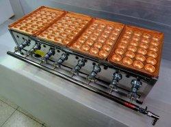 画像1: 究極のたこ焼き器 手打ち銅板大玉24穴x4連
