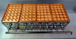 画像2: 究極のたこ焼き器 手打ち銅板大玉24穴x4連
