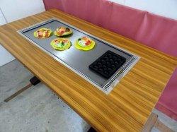 画像2: たこ焼+鉄板焼(お好み焼)兼用テーブル 6人用 ガス用