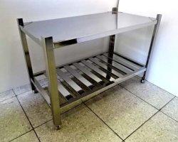 画像2: 鉄板焼き用 ステン台