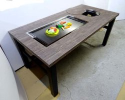 画像2: 鍋+鉄板焼(お好み焼)兼用テーブル  ガス用
