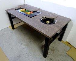 画像3: 鍋+鉄板焼(お好み焼)兼用テーブル  ガス用