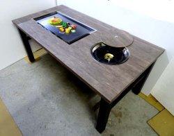 画像1: 鍋+鉄板焼(お好み焼)兼用テーブル  ガス用