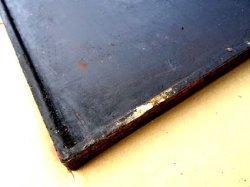 画像3: 味のある使い込んだ鉄板 縁盛り手造り鉄板
