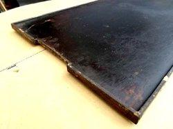 画像2: 味のある使い込んだ鉄板 縁盛り手造り鉄板