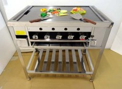 画像2: 外寸900x600型(カウンター埋め込み型) 究極の鉄板焼き器