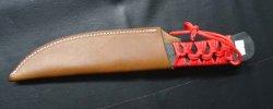 画像5: カスタム ナイフ 特注大 焔 HOMURA 両刃 レザーケース付き