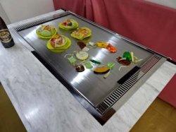 画像4: お好み焼・鉄板焼 メイン カウンター 1200x(800+パイプ50)x高さ750