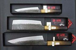 画像1:  焔紅蓮 3本セット  和牛刀225+和菜切り180+和ペテ150