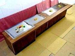 画像1: 鉄板焼き お好み焼 カウンター全長3600 注文生産 別注可