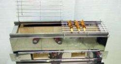 画像1: 炭焼き 串焼き器(耐火レンガ入り)