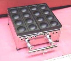 画像1: 爆弾焼き器(特大8穴たこ焼き器)