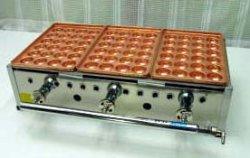画像1: たこ焼き器 手打ち銅板大玉24穴x3連