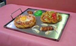 画像1: たこ鍋x2枚サイズ こだわりの手造り調理鉄板