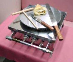 画像1: クレープ焼き器 小
