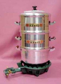 画像1: 餅用AL蒸し器セット
