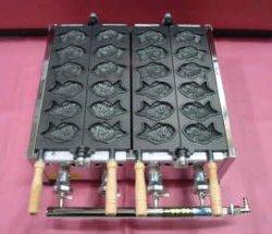 画像1: 小6匹x2連(テフロン仕上) 鯛焼き機